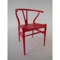 Wishbone Chair - Red with Red Seat