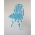 Wire Chair in Light Blue