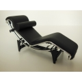 Le Corbusier LC4 Chaise Lounge Stock Black
