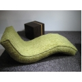 Overstuffed Chaise in Green