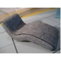 Overstuffed Chaise in Gray