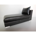 Preston One Arm Chaise in Black