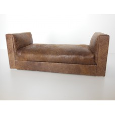 Preston Two Arm Chaise in Vintage Brown