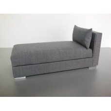 Preston One Arm Chaise in Gray