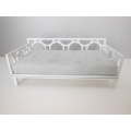 Cortez Daybed with White Frame and Gray Mattress