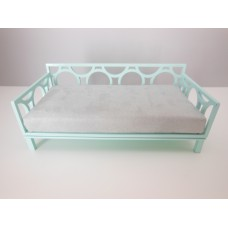 Cortez Daybed with Light Blue Frame and Gray Mattress