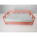 Cortez Daybed with Coral Frame and Gray Mattress