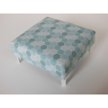 Ottoman in Blue Octagon Print