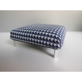 Ottoman in Blue / Black / White Check