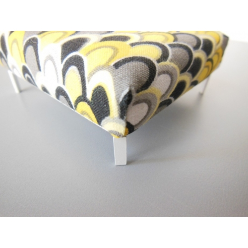 Modern Dollhouse Furniture M112 Pods Ottoman In Yellow