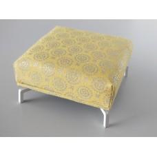 Lusso Ottoman in Yellow Metallic