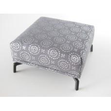 Lusso Ottoman in Gray Metallic