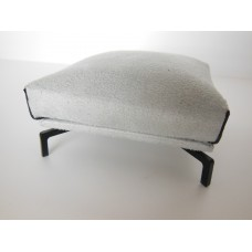 Lusso Ottoman in Gray Micro Suede