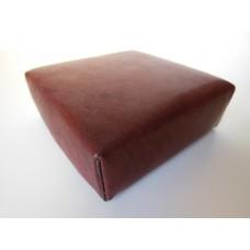Mahogany Leather Ottoman