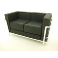 Le Corbusier Petit Lounge Sofa Stock Black