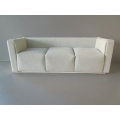 White Microsuede Metro 2 Sofa