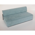 Moda Convertible Sofa in Blue Microsuede