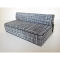 Moda Convertible Sofa in Black/White Print