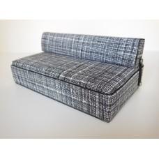 Moda Convertible Sofa in Black/White Print