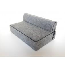 Moda Convertible Sofa in Gray Fabric