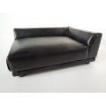 Uno Sofa in Black Leather - Right Arm