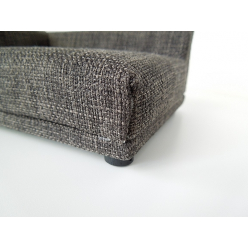 Modern dollhouse furniture m112 pods uno sofa in grey for Grey tweed couch