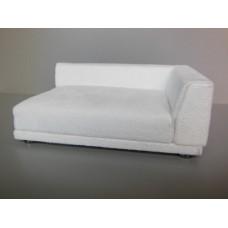 Uno Sofa in White Microsuede