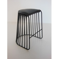Bride's Veil Counter Stool Black/Black