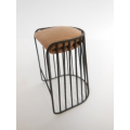 Bride's Veil Counter Stool Black/Tan