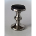 Stainless Steel Stool with Black Seat