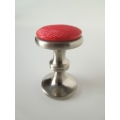Stainless Steel Stool with Red Seat