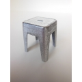 Short Tolix Stool in Burnished Metal