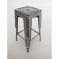 Tolix Stool in Vintage Silver