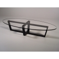 Elipse Coffee Table with Glass Top