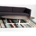 Elipse Coffee Table with Wood Top & White Base