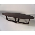 Elipse Coffee Table with Wood Top