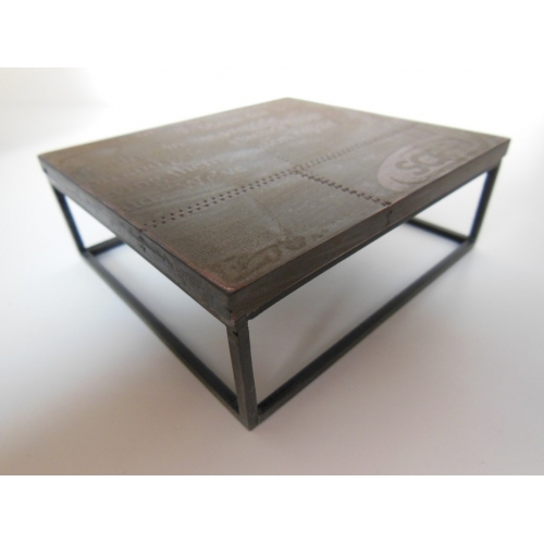 Industrial Coffee Table   Large Square