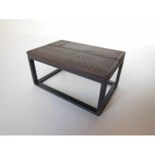 Modern dollhouse furniture m112 pods industrial coffee for Small industrial coffee table
