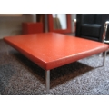 Orange Painted Coffee Table