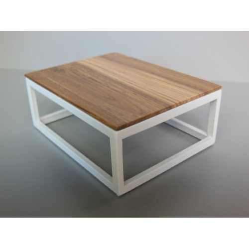Modern Dollhouse Furniture M112 Pods Parsons Coffee Table With Hickory Wood Top By Paris