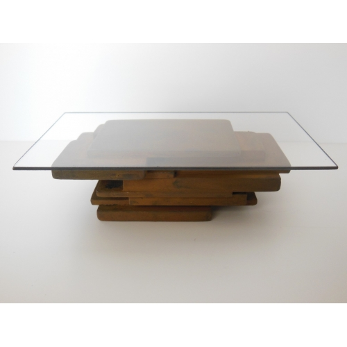 Modern Dollhouse Furniture M112 PODS STAX Coffee Table in Rust