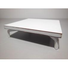 White Laminate Coffee Table with White J Leg