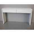 Emerson Console Table with White Base and White Drawers