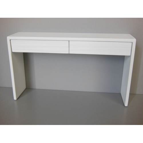 Awesome Emerson Console Table With White Base And White Drawers