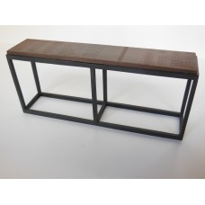 Industrial Console Table - Black Base with Rusted Top