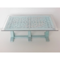 Attar Dining Table in Blue