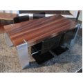 L Angle Rosewood Dining Table