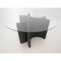 "Lotus ""3"" Dining Table in Natural Steel"