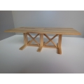 Modern Farmhouse Dining Table in Hickory