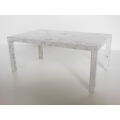 Faux Marble Parsons Dining Table